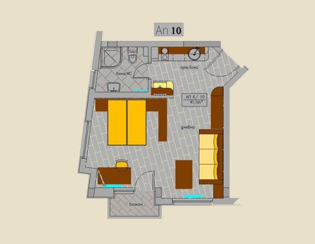 Apartment 10 type floor