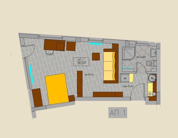 Апартамент 1 партер
