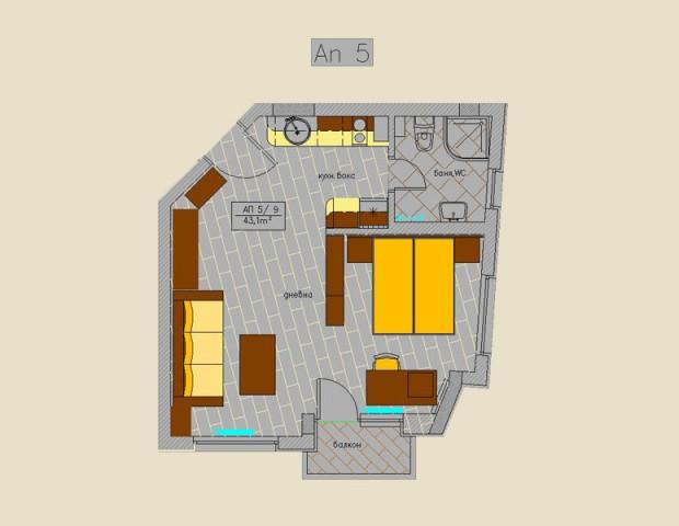 Апартамент 5 типов етаж